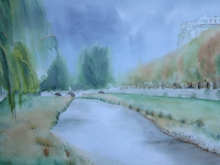 Rio Arlanzón a su paso por Burgos